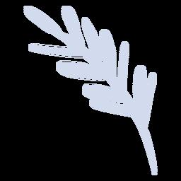 Weiße Pflanze Zweig flache Pflanze