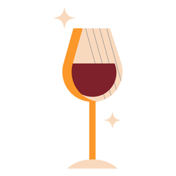 Wine glass flat wine glass