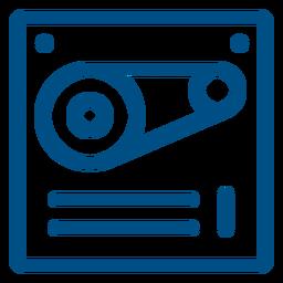 Máquina de icono de trazo de maquinaria de trabajo