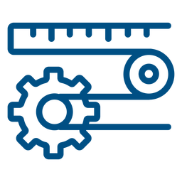 Maquinaria de trabajo con máquina de icono de engranaje