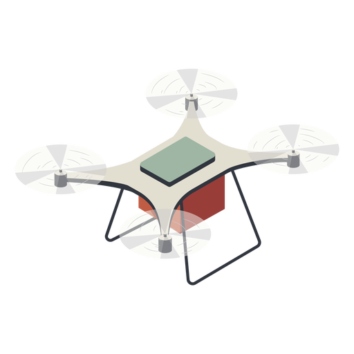 Drone volador con drone de ilustraci?n de bater?a