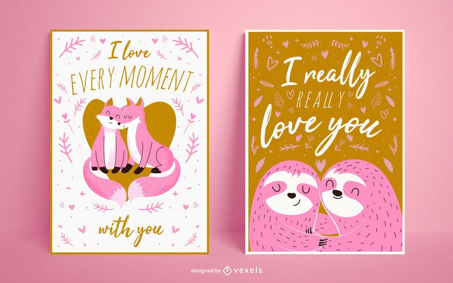 Valentine's day poster set design