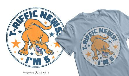 Diseño de camiseta de cumpleaños t-riffic