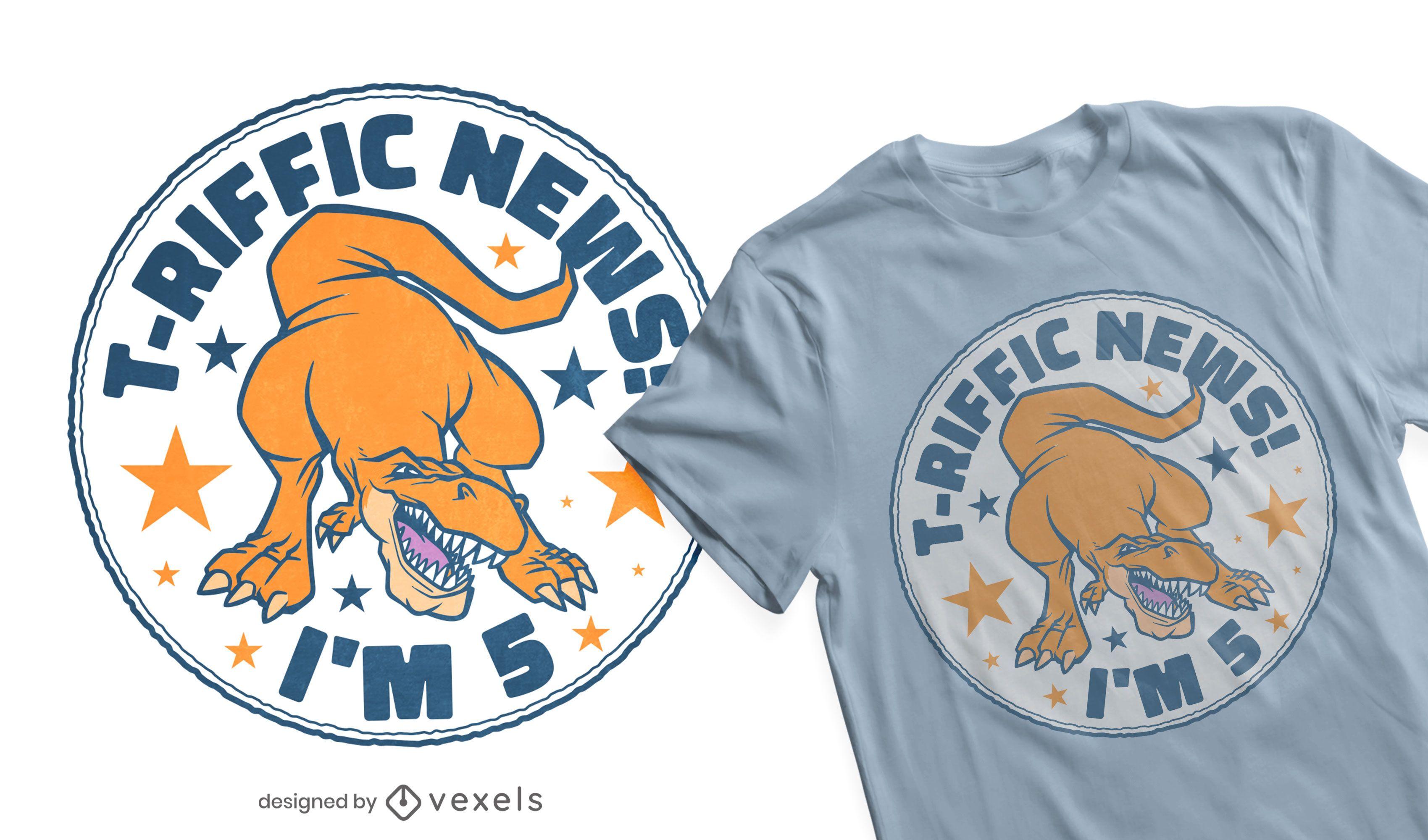 T-Riffic Geburtstag T-Shirt Design