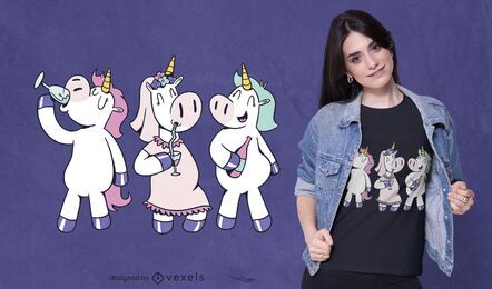 Unicorn party t-shirt design