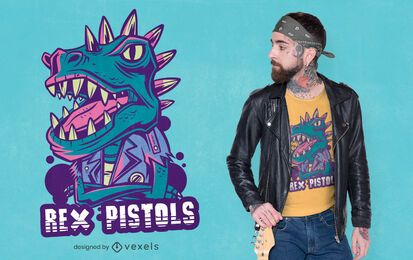 Rex pistols t-shirt design