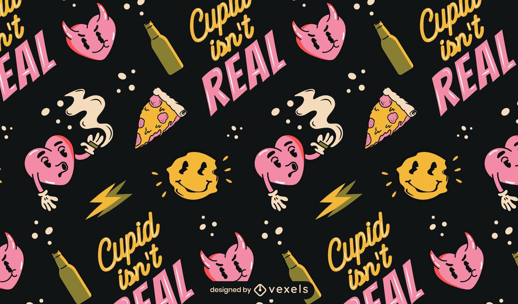 Cupid isn't real pattern design