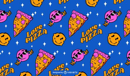Liebe Pizza Muster Design