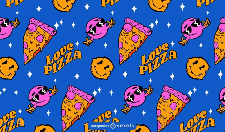 Amo el diseño del patrón de pizza