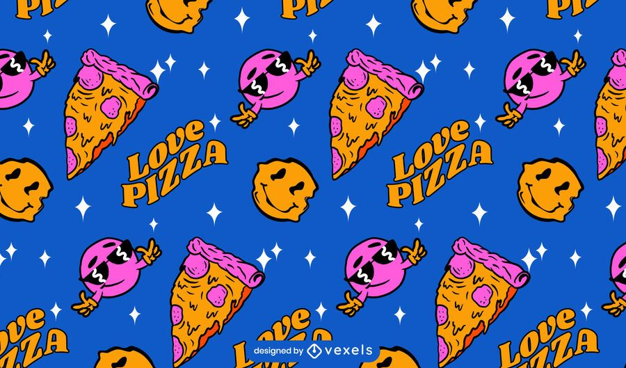 Love pizza pattern design