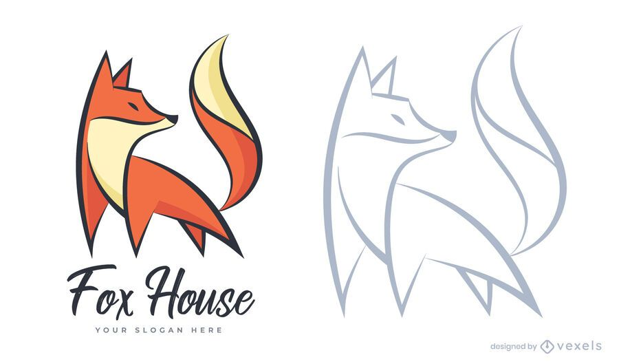 Fox house logo template