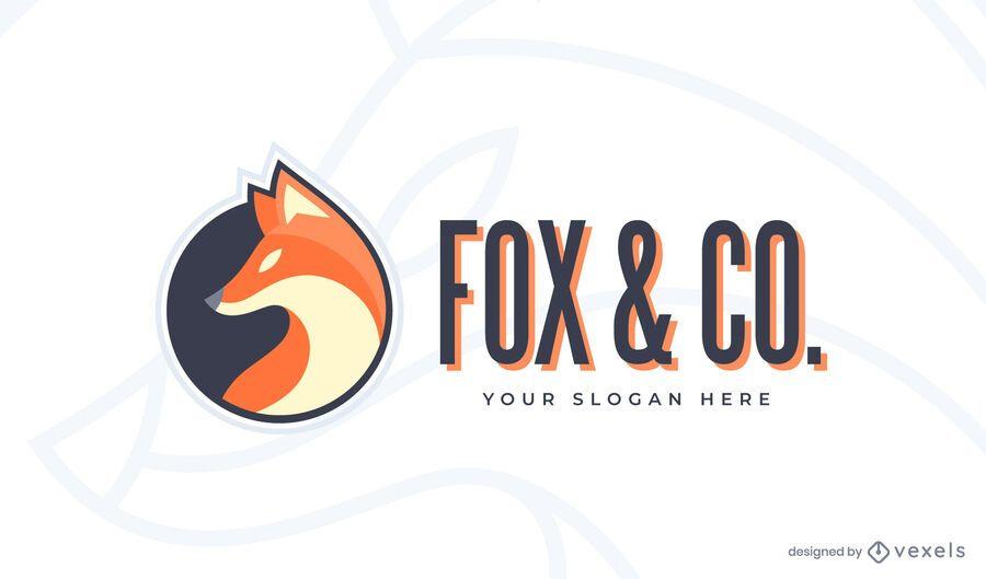 Plantilla de logotipo de fox & co