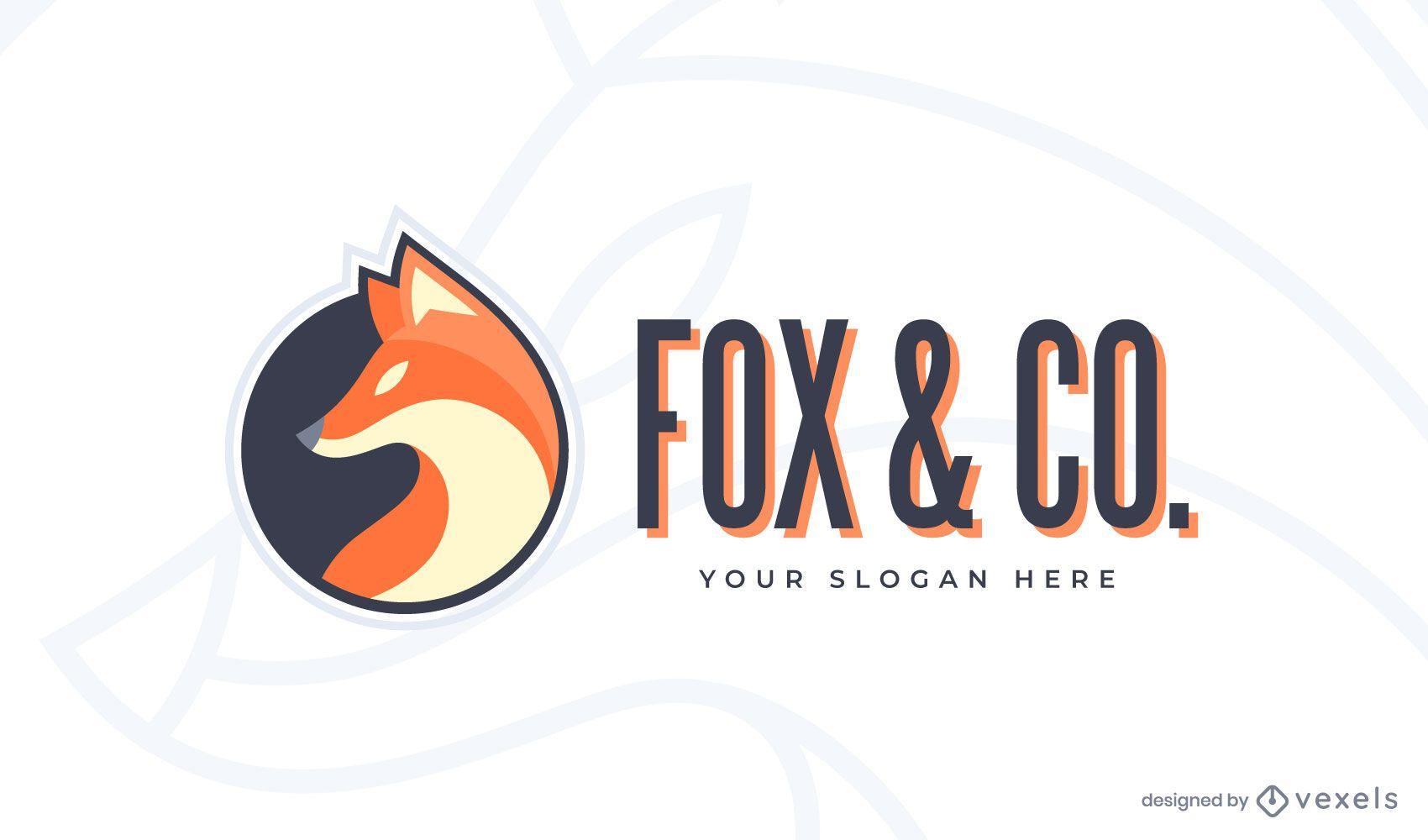 Modelo de logotipo da Fox & co