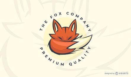 La plantilla de logotipo de empresa fox