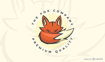 The fox company logo template