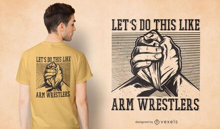 Arm wrestler t-shirt design