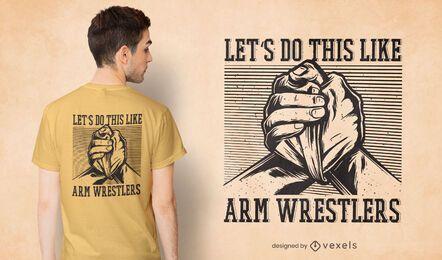 Diseño de camiseta de luchador de brazos