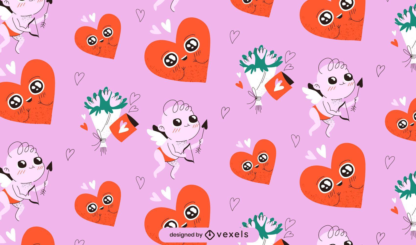 Valentine's day cupid pattern design