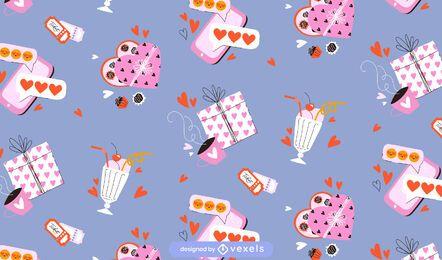 Diseño de patrón de San Valentín