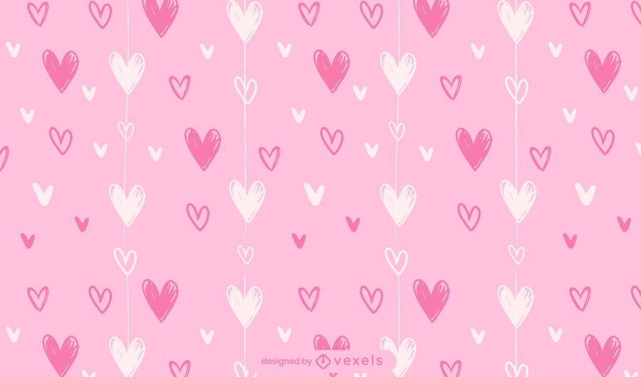 Diseño de patrón de corazones de San Valentín