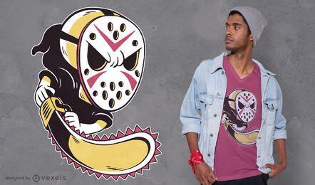 Grim reaper hockey mask t-shirt design
