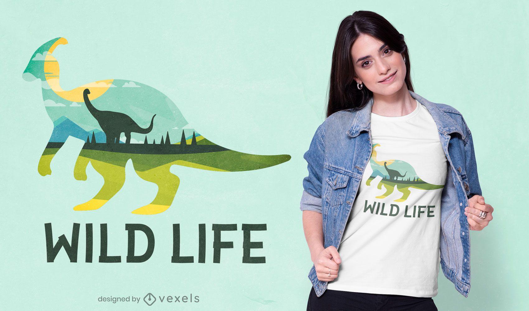 Wild life dinosaur t-shirt design