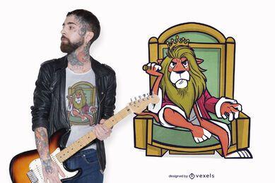 King lion t-shirt design