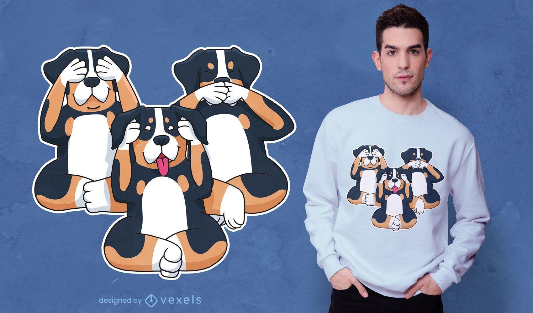 Three dogs t-shirt design