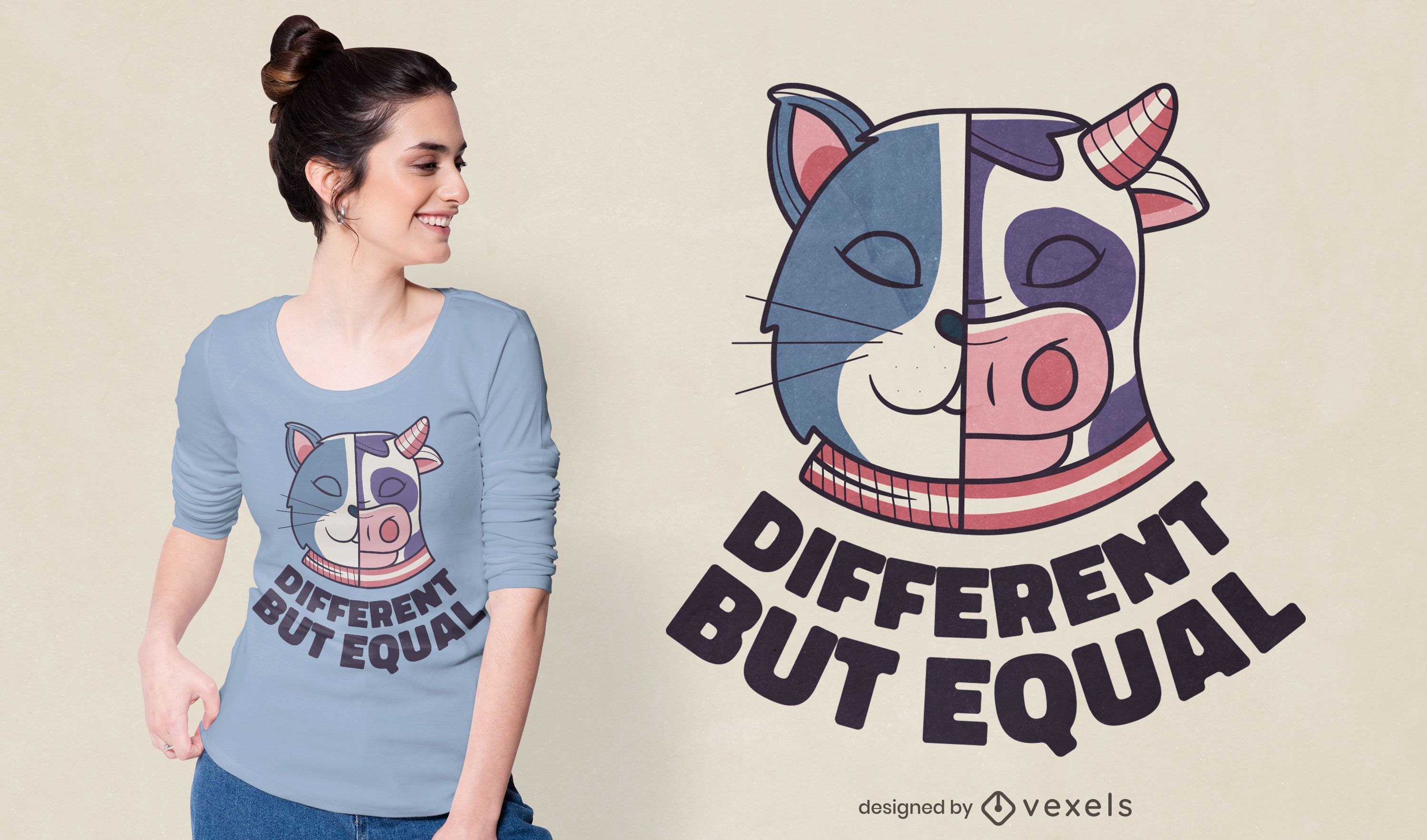 Different but equal t-shirt design