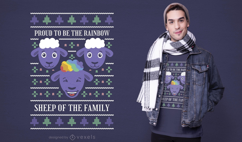 Rainbow sheep t-shirt design
