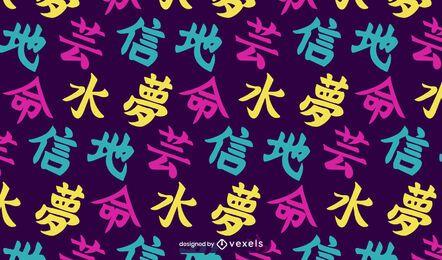 Desenho de padrão japonês Kanji