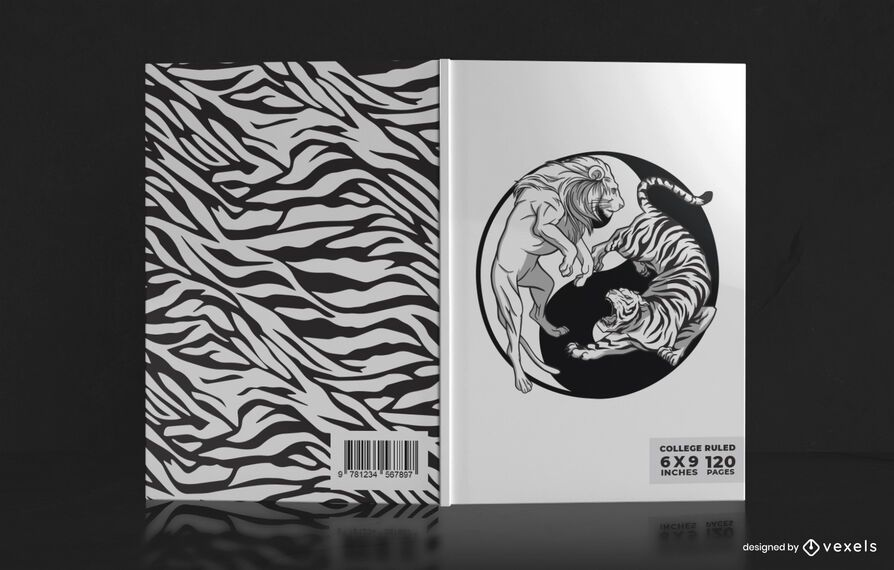 Diseño de portada de libro Yin yang