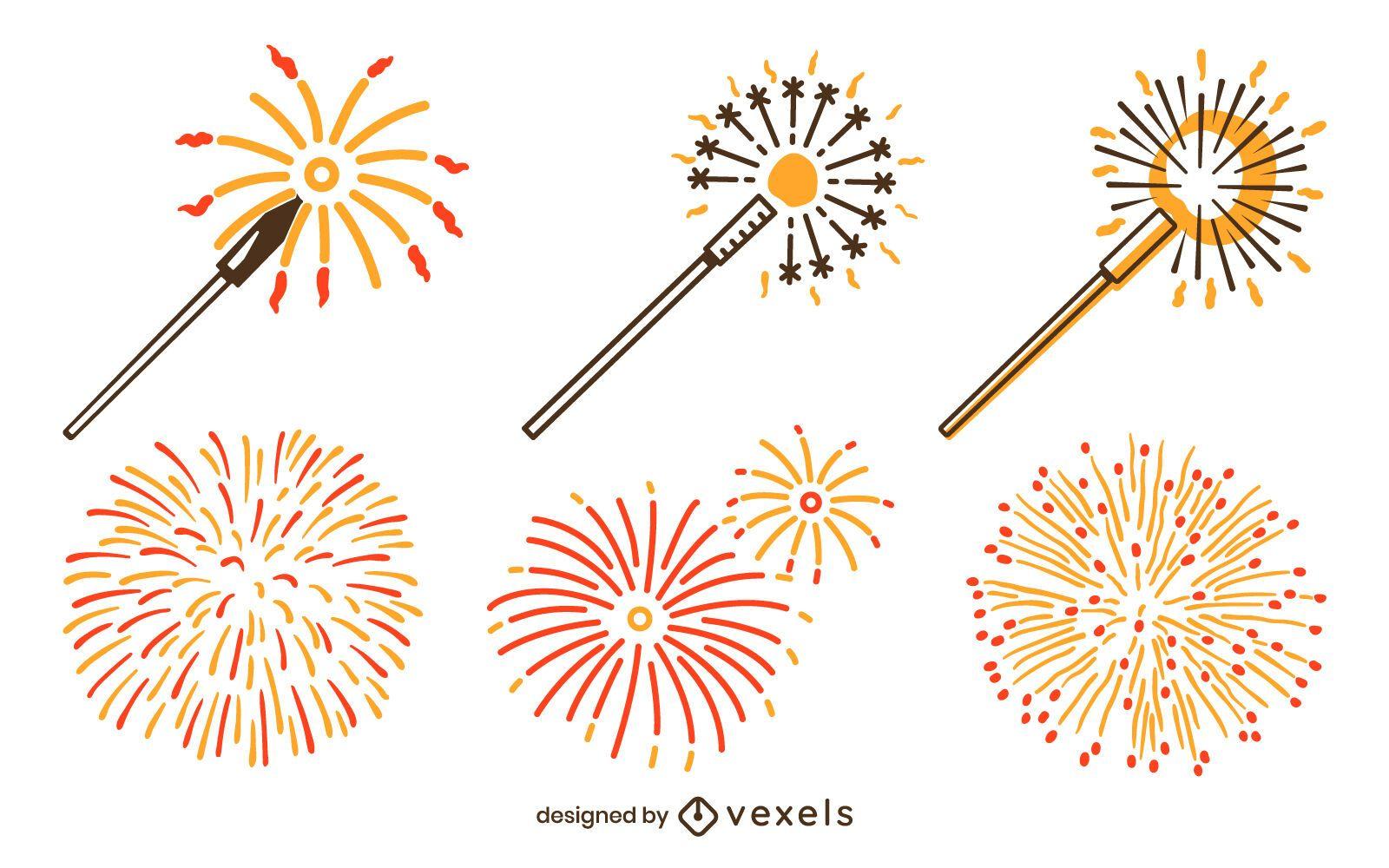 Fireworks set design