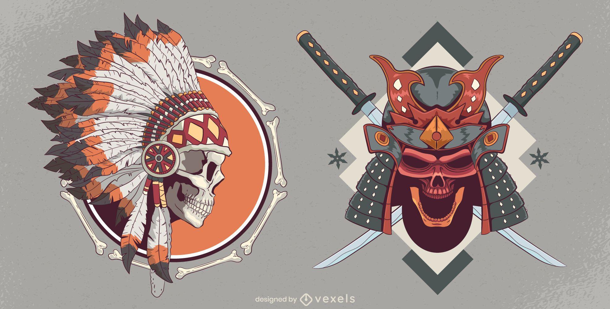 Skull headdress set design