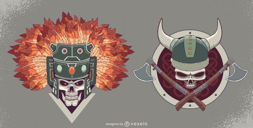 Skull helmet set design