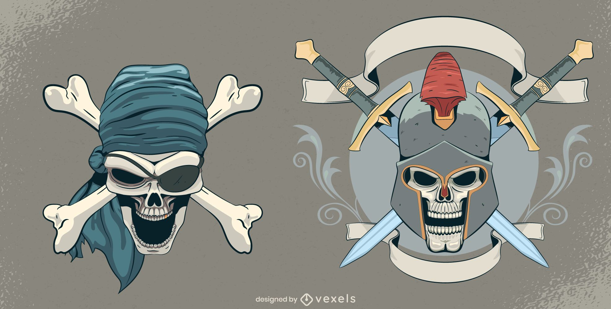 Vintage skull set design