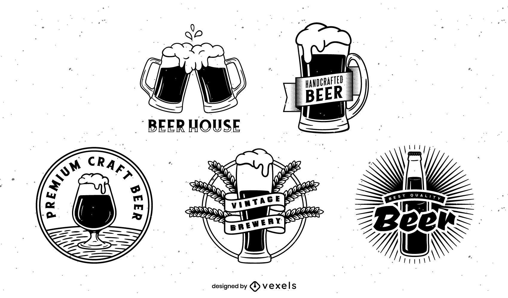 Beer badge pack design
