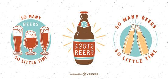 Beer badge set design