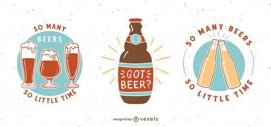 Bier Abzeichen Set Design