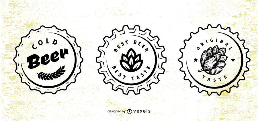 Beer cap design set
