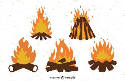 Cenografia para fogueira plana