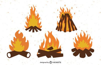 Flat bonfire set design