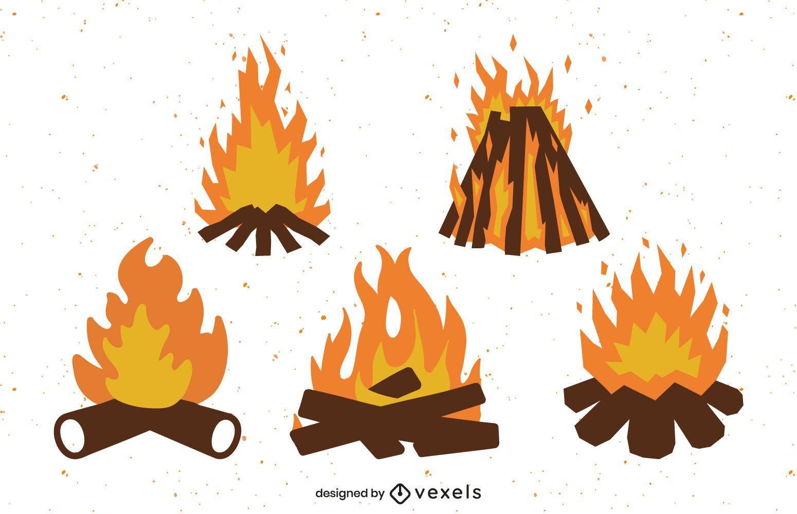 Flat bonfire set design