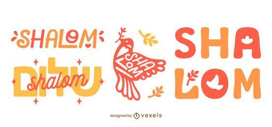 Shalom Abzeichen Set Design
