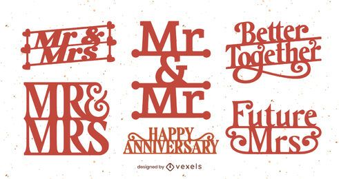 Wedding badge set design