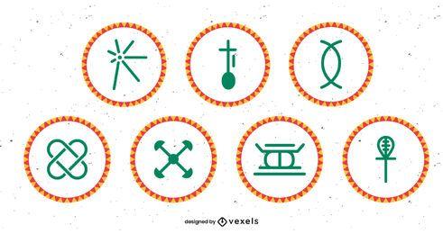 Kwanzaa Prinzipien setzen Design