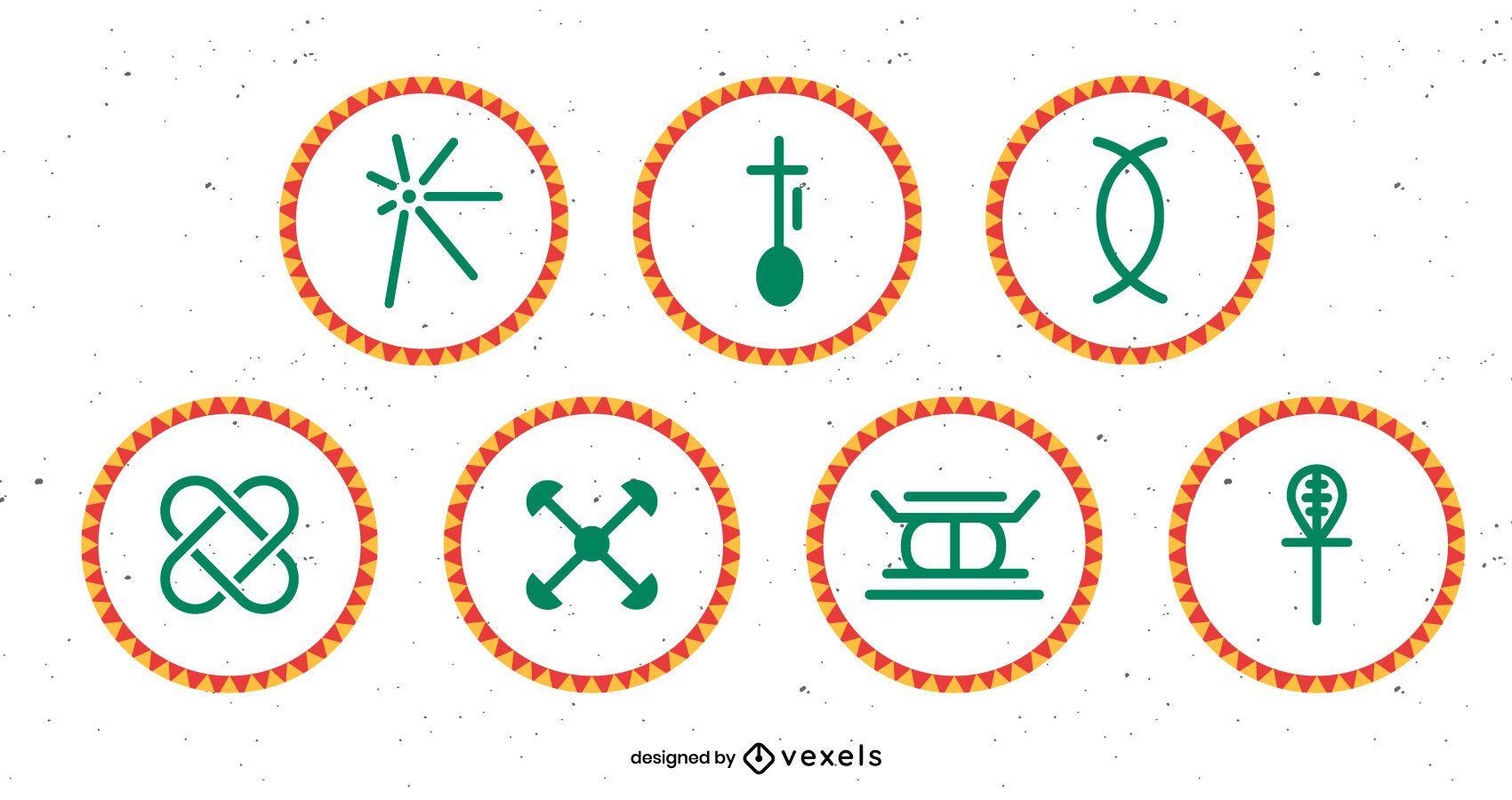 Kwanzaa principles set design