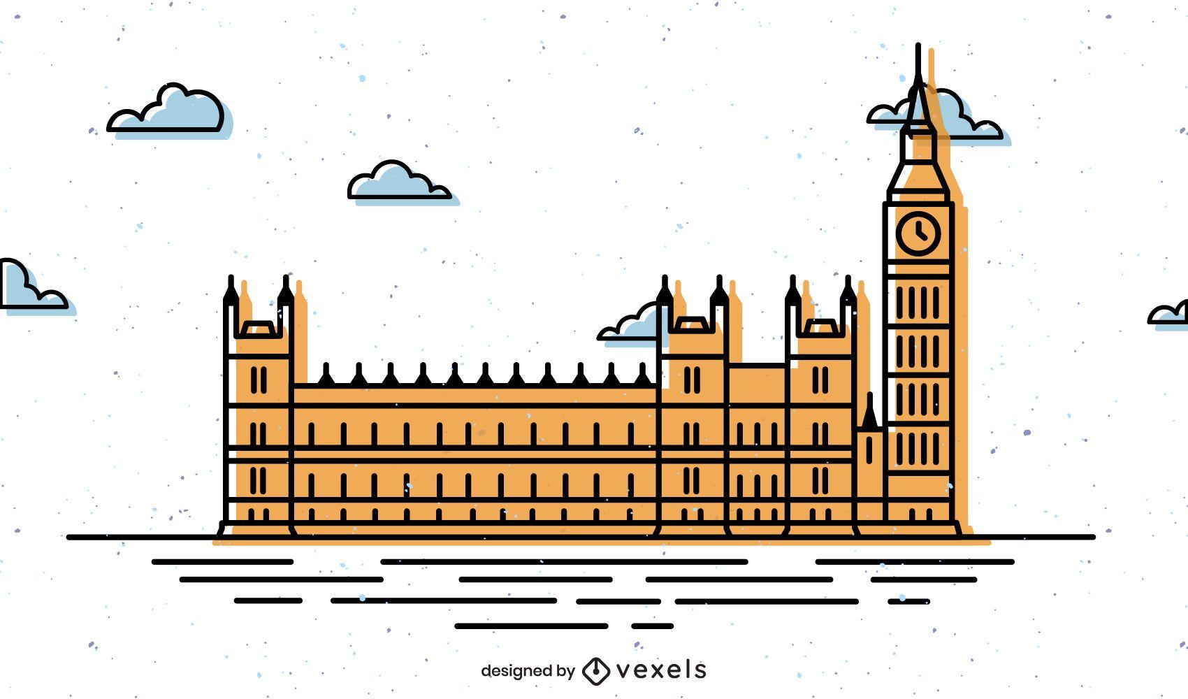 Parliament of the united kingdom illustration