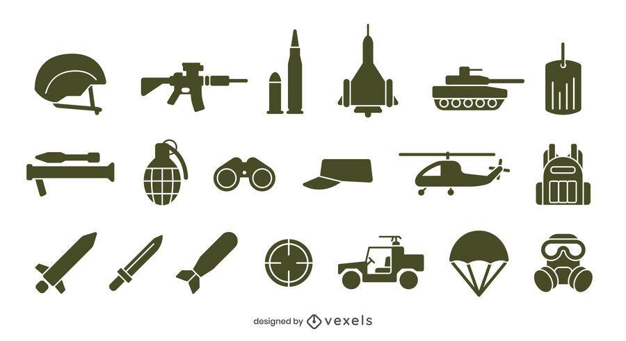 Army icon set design