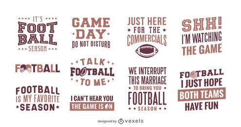 Conjunto de letras da temporada de futebol